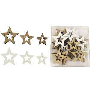 Dekorační hvězdičky, 24 ks D1252
