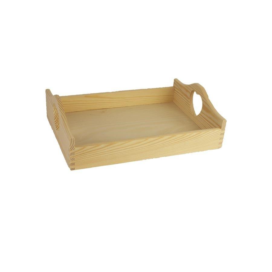 Dřevěný podnos se srdíčky 097044/S