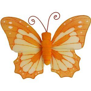 Motýl s klipy oranžový X0317/O