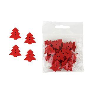 Dekorační stromečky červené, 24ks
