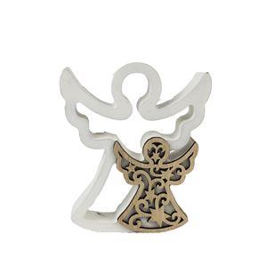 Dřevěná dekorace anděl D1776