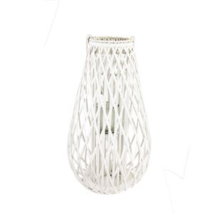 Dekorace na svíci bílá P0678