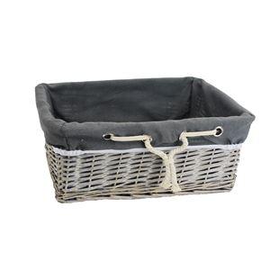 Zásuvka šedá s látkou střední P0918/S