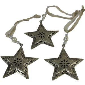 Kovové hvězdy na zavěšení sada 3ks, K0059