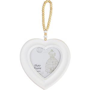Fotorámeček srdce bílé D0761