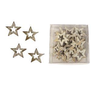 Hvězdy dekorační, 18ks D2352