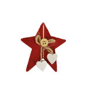 Dekorační hvězdy červené 1ks