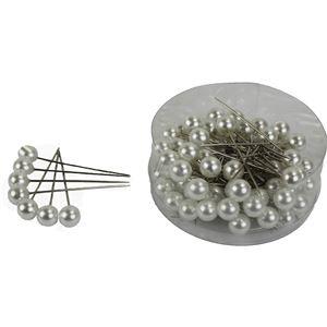 Perly zápich velké bílé, 72ks X0295