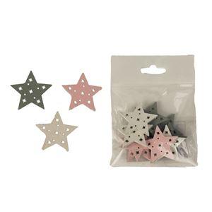 Hvězdy dekorační, 9ks D2356