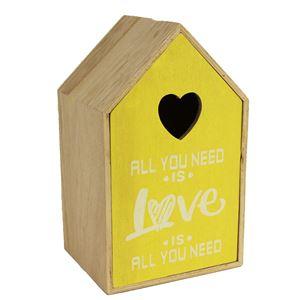 Dřevěný domek žlutý D0694