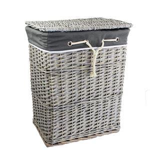 Koš na prádlo šedý P0917
