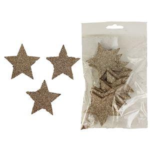 Hvězdy dekorační, 12ks D1308/CH