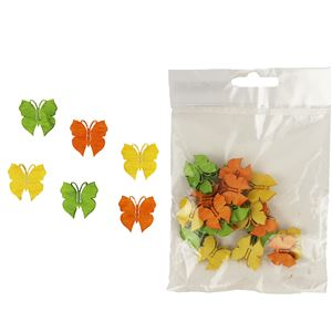 Dekorační motýlci 2cm, 24ks D1112