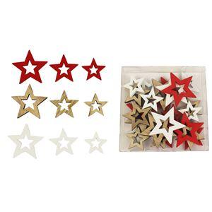 Dekorační hvězdičky, 24 ks D1237