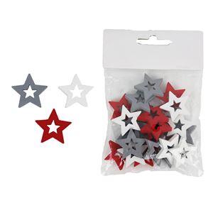Dekorační hvězda, 24 ks D1733