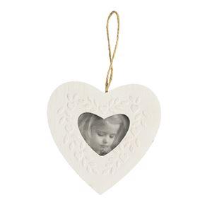 Fotorámeček srdce bílý, 381901-01