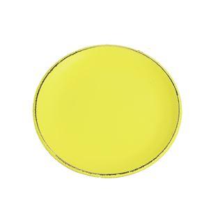 Dřevěný podnos kulatý sv.žlutý D0767-02