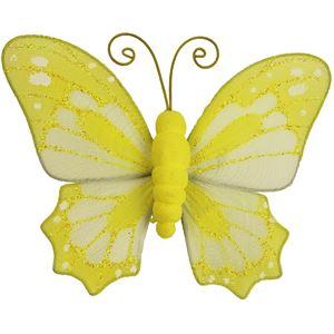 Motýl s klipy žlutý X0317/ZL