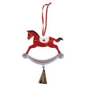 Koník k zavěšení červený
