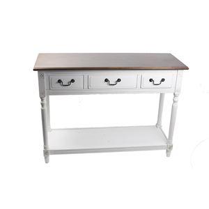 Dřevěný stůl 3 zásuvky D0540-01