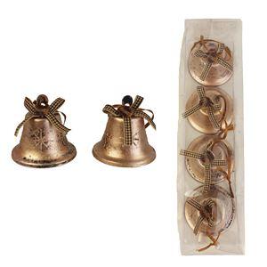 Zvonek kovový, 4ks K0637