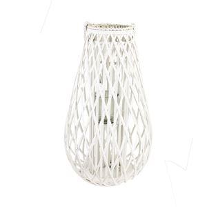 Dekorace na svíci bílá P0677