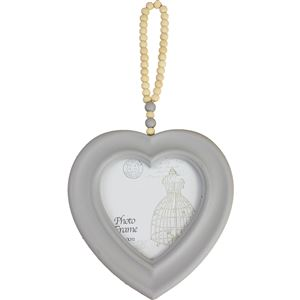 Fotorámeček srdce šedé D0762