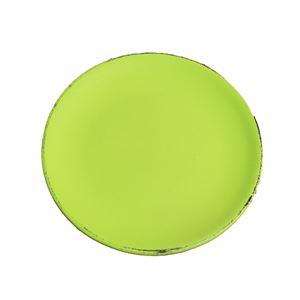 Dřevěný podnos kulatý zelený D0767