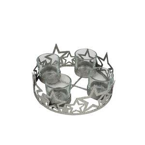 Svícen na 4 svíčky stříbrný malý K1573/1