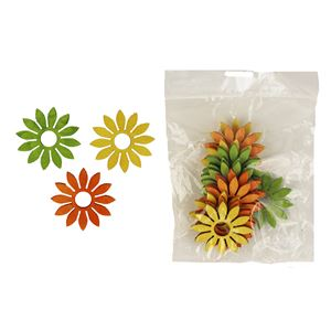 Dekorační květy 4cm, 12ks D1117