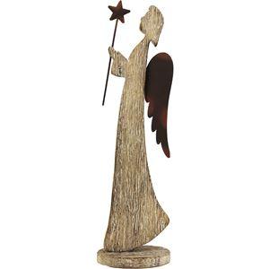 Dřevěný anděl D0409