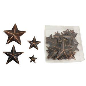 Hvězdy kovové, 22 ks K0696