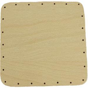 překližka tl.4 mm, čtverec 15x15 cm s otvory