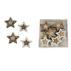 Hvězdy dekorační, 12ks D2391