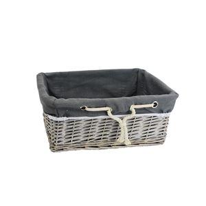 Zásuvka šedá s látkou malá P0918/M