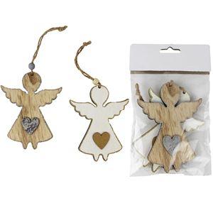 Anděl dřevěný 2 ks D1824