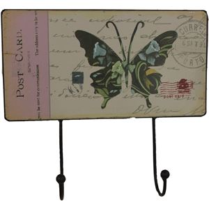 Věšák 2 háčky - Motýl, 355100