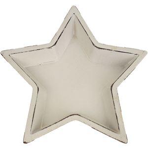 Dřevěný podnos hvězda velký D0506/4