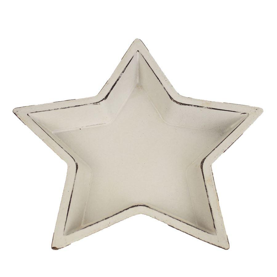 Dřevený podnos hvězda nejmenší D0506/1