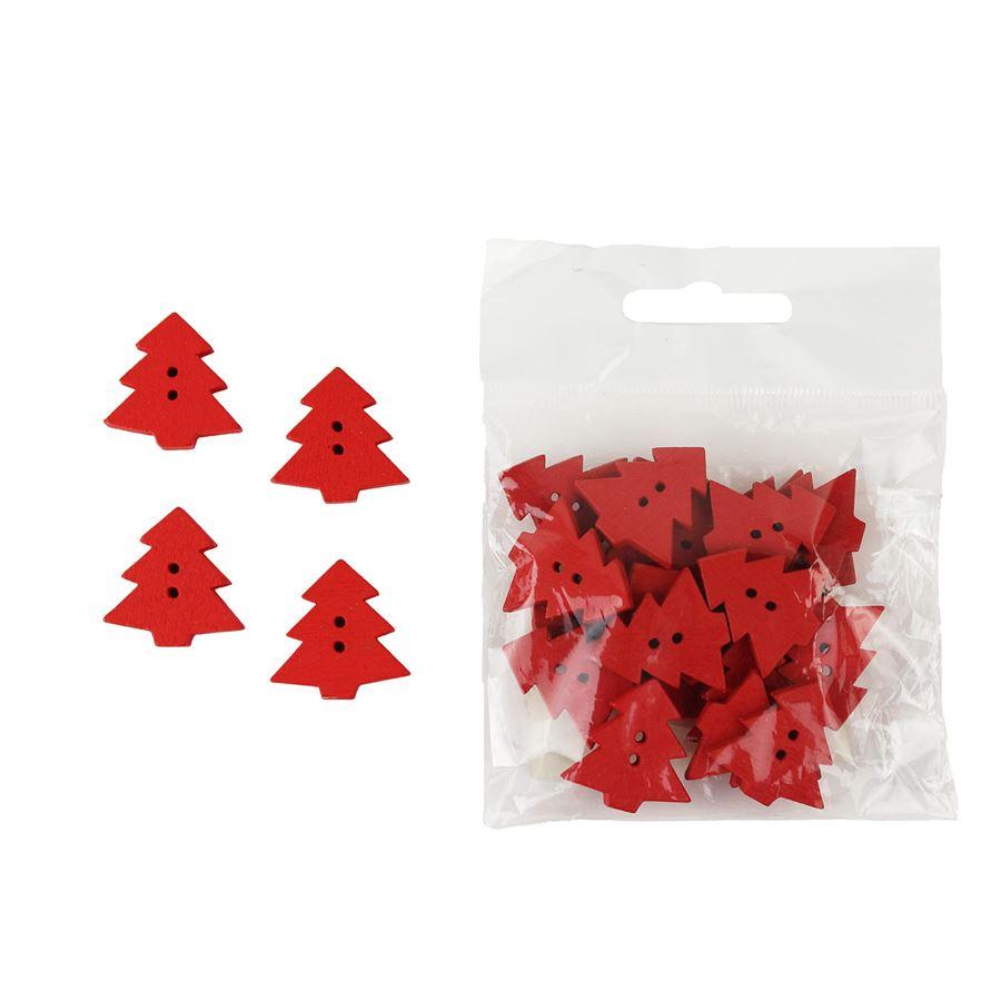 Dekorační stromečky červené, 24ks D0847/C