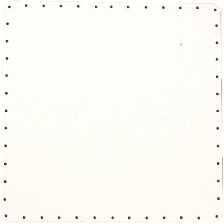 sololak bílý čtver.24x24cm s otvory 22B2424C