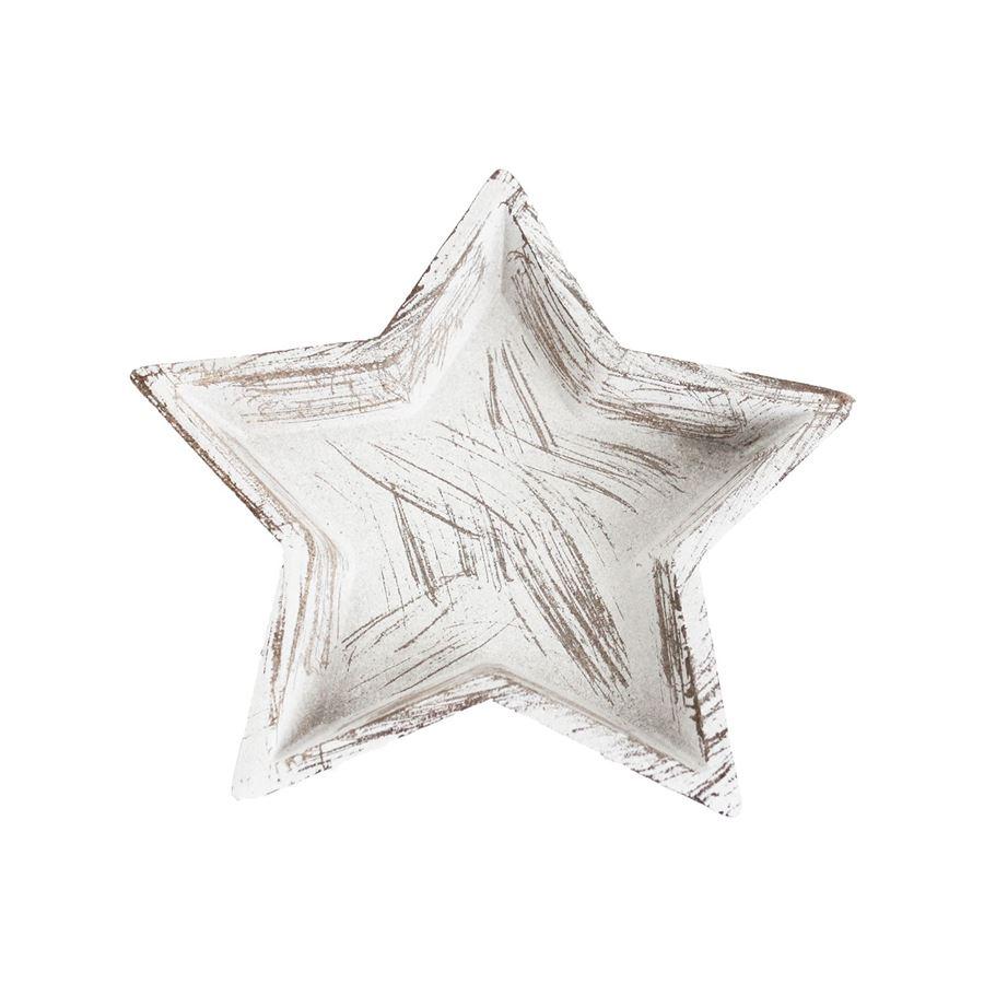 Dřevěný podnos hvězda velký D3133/2