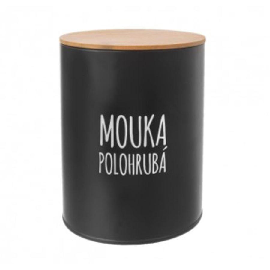 Dóza Mouka polohrubá BLACK O0149