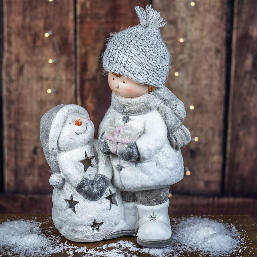 Dítě se sněhulákem X2636B 2. jakost
