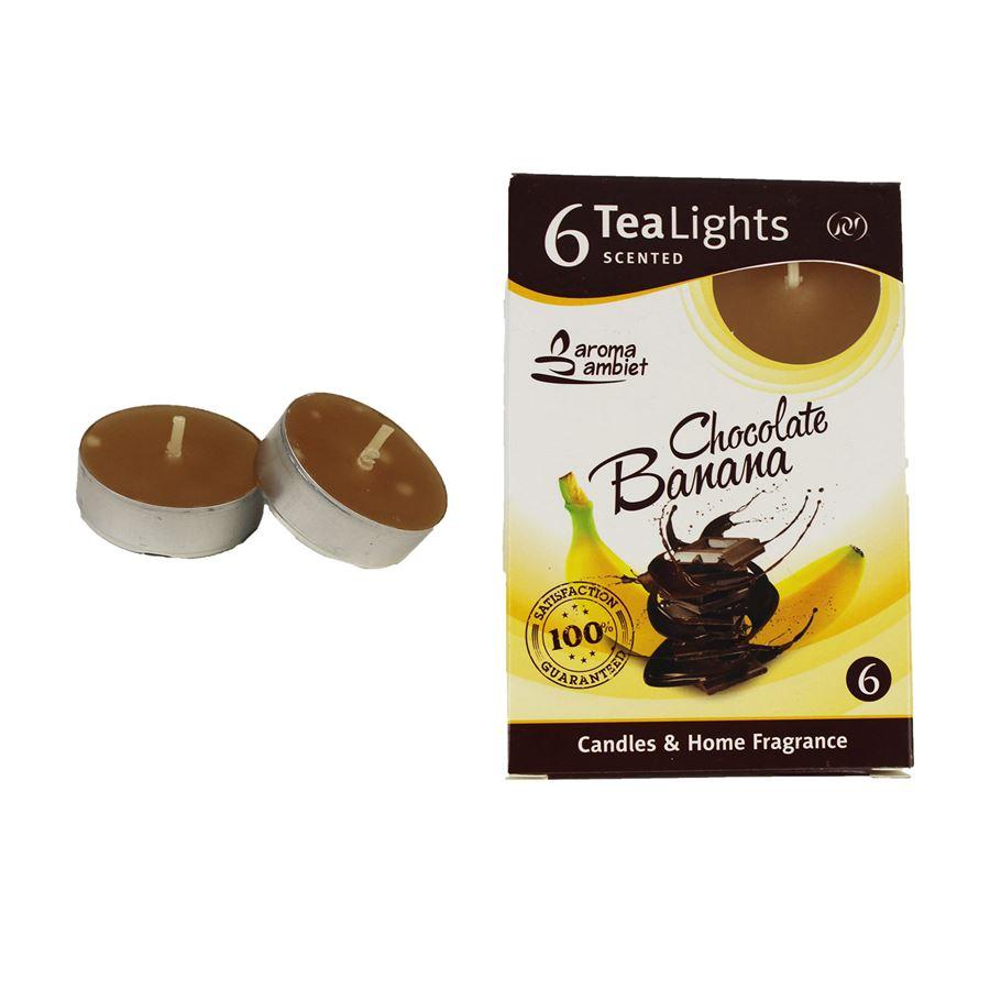 Svíčka čajová CHOCOLATE BANANA 6ks MSC-TL1007