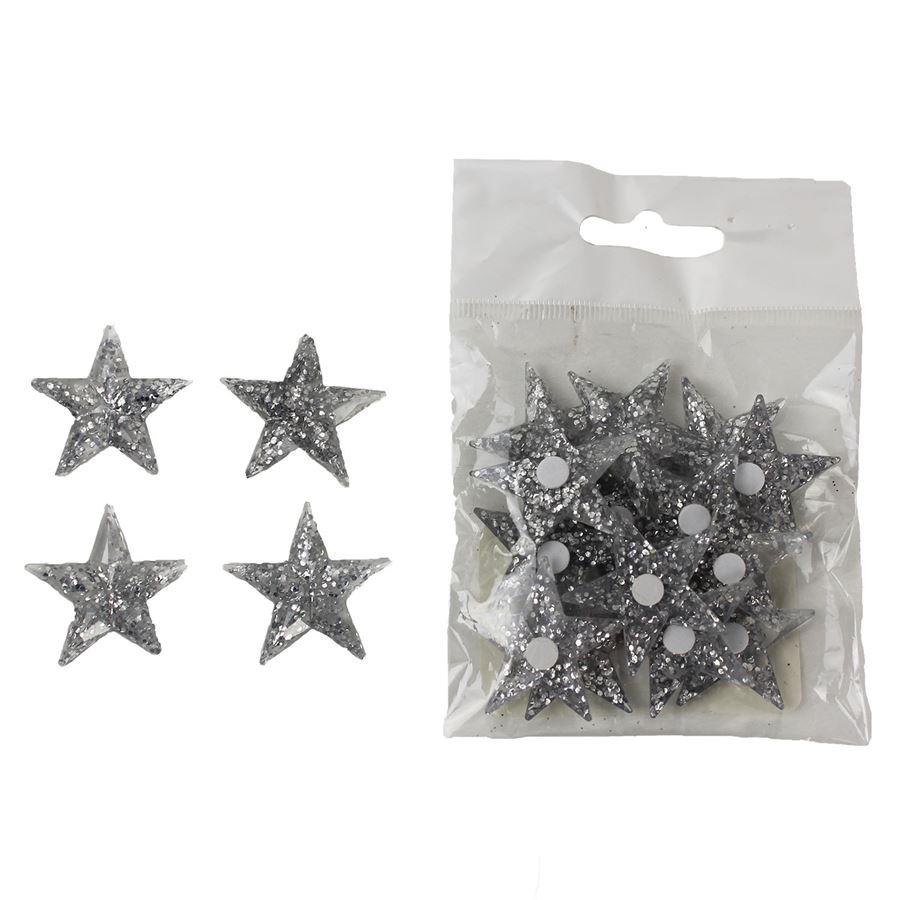 Dekorační hvězdičky, 18ks X1075