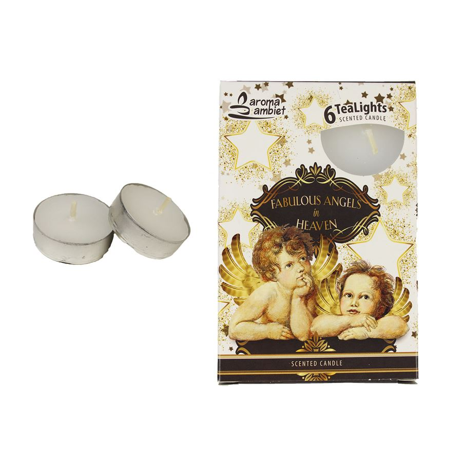 Svíčka čajová FABULOUS ANGELS 6ks MSC-TL1029