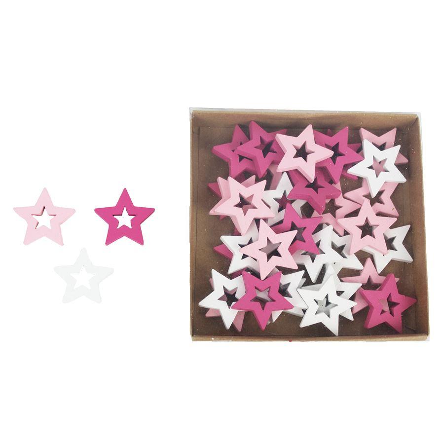 Dekorační hvězdičky, 36 ks D1725