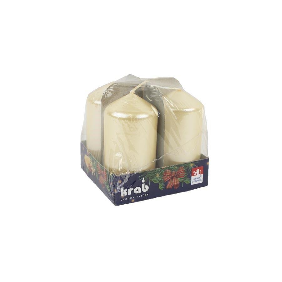 Adventní svíčky 40x80 4 ks lak krémová MK0013