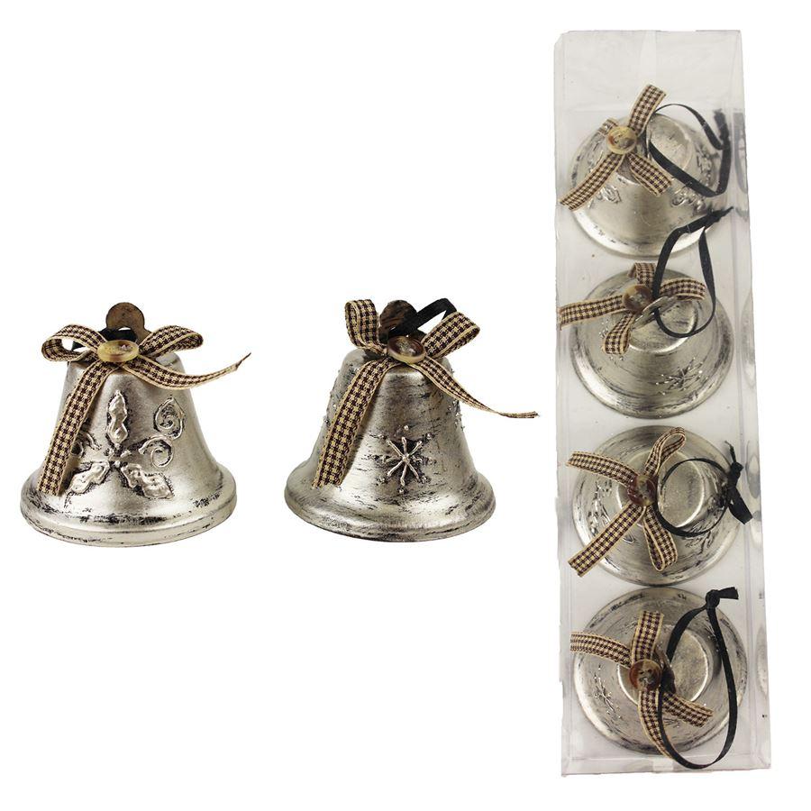 Zvonek kovový, 4ks K0638